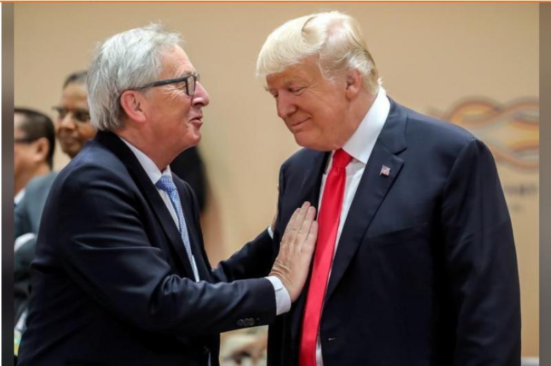 Трамп заявил, что ЕС и США приняли решение избежать торговой войны