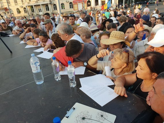Полиция разогнала манифестантов, протестовавших в центре Кишинева