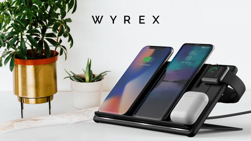 Беспроводная зарядка Wyrex, созданная украинцами, собрала более $90 тыс. на Kickstarter