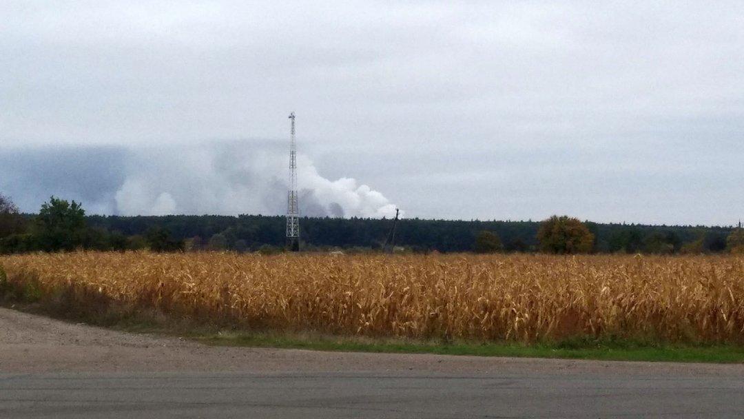 В Черниговской области открыли авиапространство после ЧП на арсенале