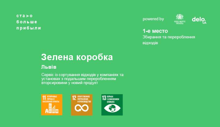 Зелена коробка: наша мета перетворити сміття на щось нове