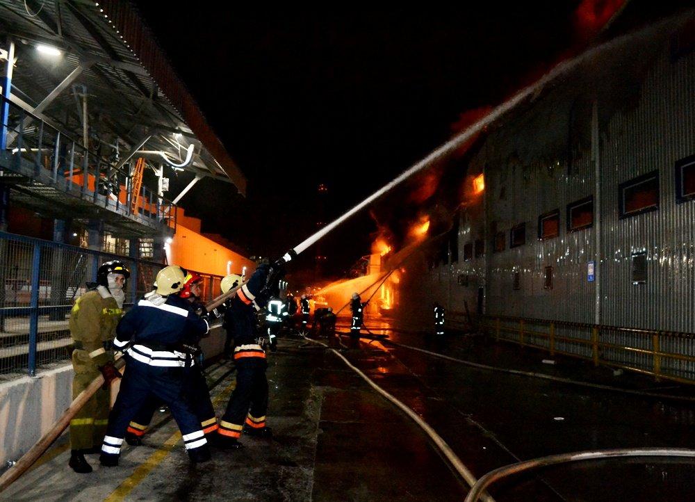 Пожар под Одессой: горел цех с пальмовым маслом