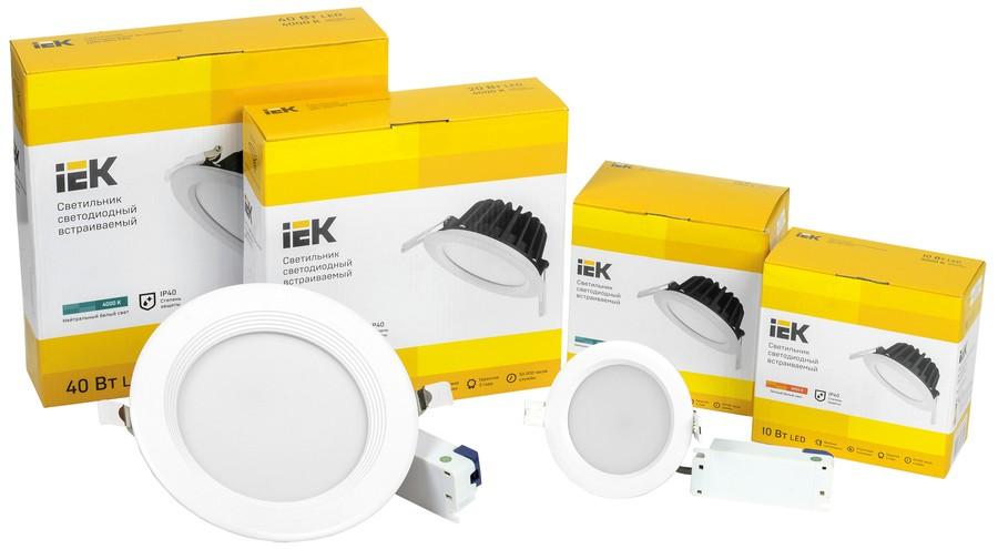 Новая серия даунлайтов ДВО PRO IEK® — повышенная надежность и рекордная эффективность