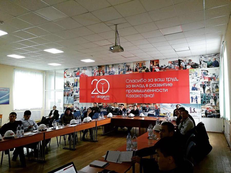 В середине января состоялся выездной семинар на территории Кентауского трансформаторного завода