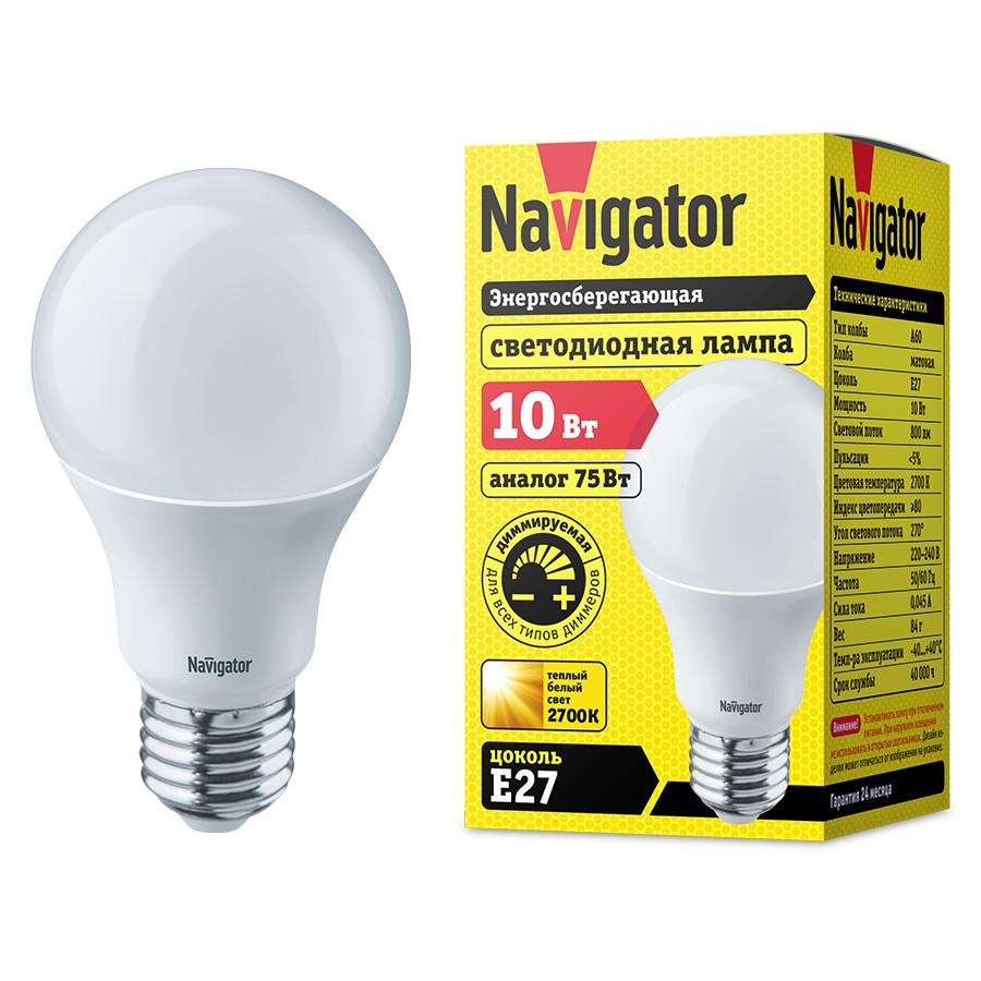 Новые диммируемые светодиодные лампы Navigator на складах ЭТМ