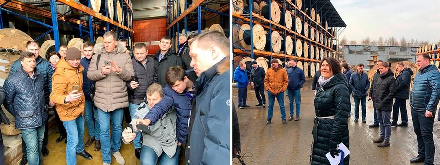 Помимо деловой части для участников комитета была проведена экскурсия на склад КПП «Элком-Электро»