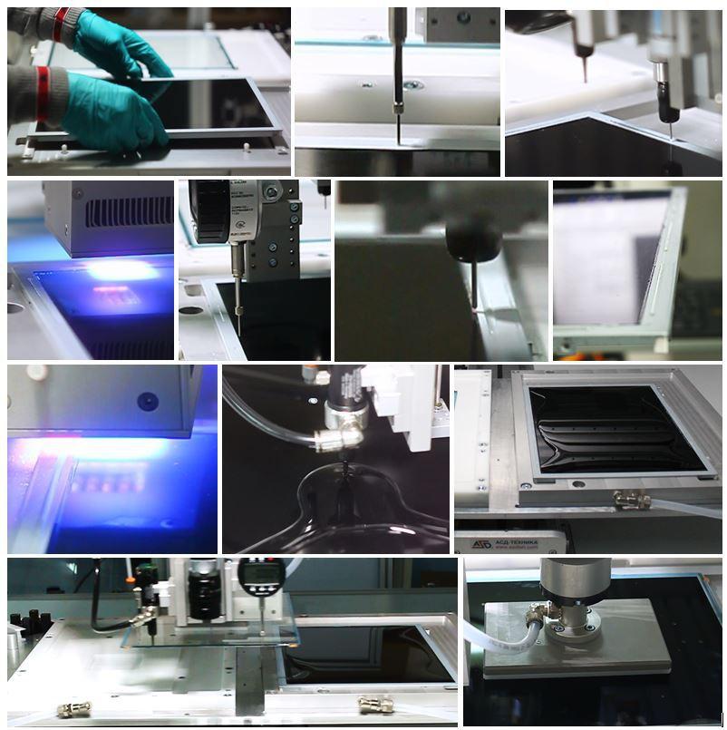 Идеальное решение для использования с любым оптически прозрачным клеем и полное УФ отверждение