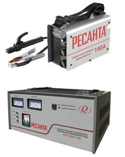 Сварочные аппараты и стабилизаторы напряжения Ресанта