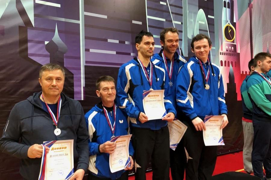 Команда «Пермспецкабеля» завоевала серебро в суперлиге командного чемпионата России по настольному теннису