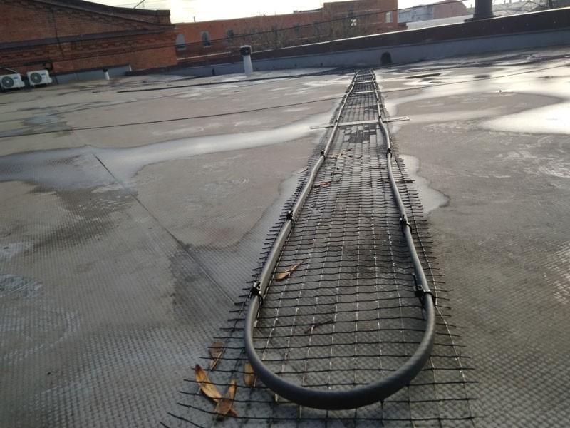 Саморегулирующийся кабель Heatus 24GSR2-CR (150 метров) на кровле