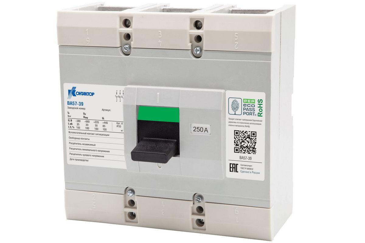 Универсальный ВА57-39 — достойный представитель линейки автоматических выключателей завода «Контактор»