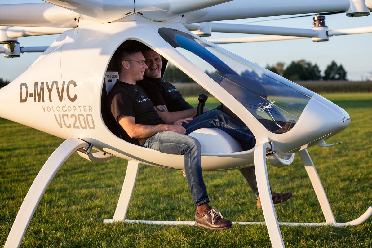 Volocopter вмещает двух пассажиров