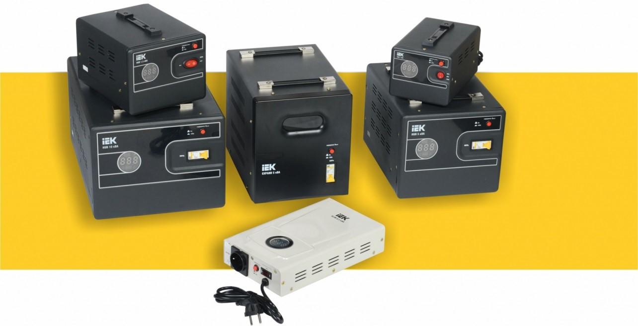 Релейные стабилизаторы напряжения серий EXPAND, HUB, SLIM IEK® – оперативное реагирование на изменения входного напряжения