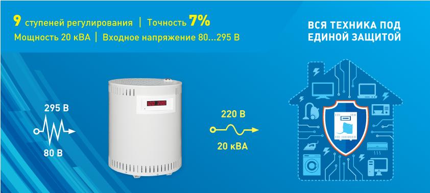 ЭТМ представляет в своем ассортименте стабилизатор напряжения для дома  от компании «Бастион»