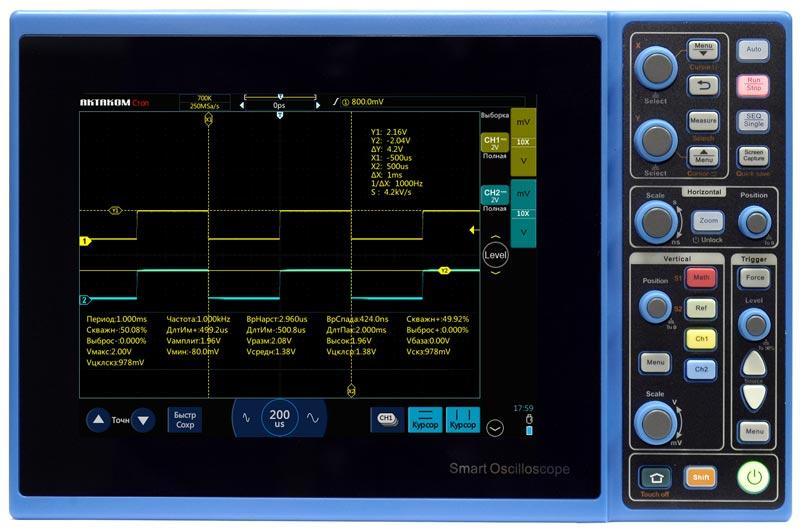 Новые планшетные осциллографы «Актаком» с комбинированным управлением