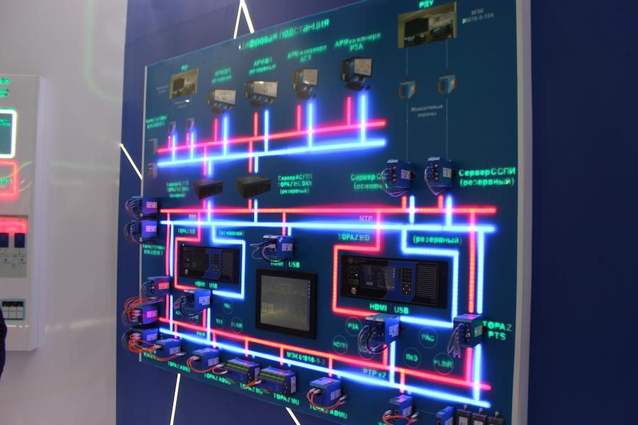 Схема электросети цифровой подстанции