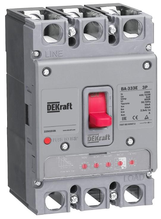 DEKraft представляет новую платформу автоматических выключателей ВА-330Е