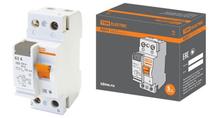 Электронные дифференциальные выключатели ВД63